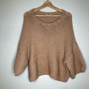 Mes Demoiselles Comete Cropped Loose Knit Sweater